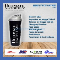 Shaker Ultimate 500 mL / 500ml black botol bottle hitam import minum nutrition ori original shake us