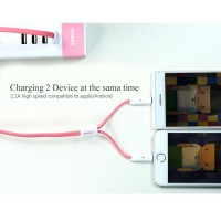 [esiafone best kabel] REMAX Binary / Same Time Series Micro USB and Lightning Cable - Kabel 2 in 1