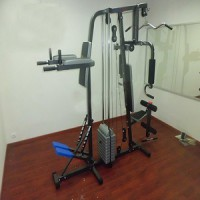 ALAT FITNESS ANGKAT BEBAN HOME GYM 2 SISI + STAPPER