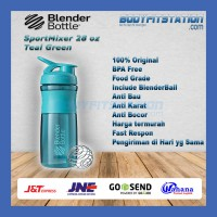 Shaker Blender Bottle Sportmixer 28 oz Teal - air botol blenderbottle gym fitness minum mixer olahraga ori original sport shake tumbler