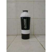 Shaker Spider Bottle 600 ml White - 3in1 air botol bpa fitnes fitness good free grade gym minum shake