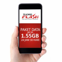 Telkomsel FLASH Paket Data Internet 1.55 GB as simpati loop