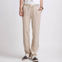 [globalbuy] Free delivery sell like hot Men linen trousers high quality beach pants and Br/4092269