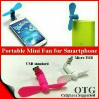 Kipas Angin Portable Mini Fan Android Smartphone OTG Micro USB 2 in 1