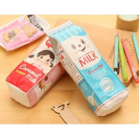 stp006 kotak pensil susu Korean milk pencilcase creative stationery