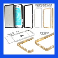 Sony Xperia XA - Dual Slide On Metal Bumper Case Casing Cover