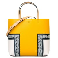 Tory Burch Block T Printed Mini Tote Yellow - (DB531 Kuning)