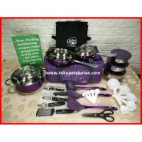 Panci Set Stainless Travel Oxone Ox-993 (deluxe) M.U.R.A.H