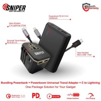 BUNDLING POWERSHOOT PD S111141 & Powerboom PD QC Gold + C to Iphone