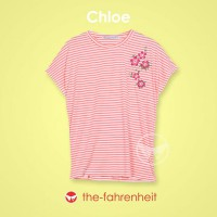 The-Fahrenheit Chloe Batwing Patches Peach Short Sleeve Tee
