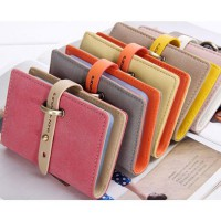 Dompet Kartu PU Leather Buckle Style