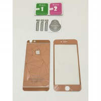 Apple Iphone 6 / 6s 3D Diamond Rose Gold Premium Tempered Glass with Metal Packaging