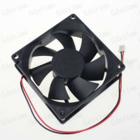 [globalbuy] 1Pcs 2pin 2 Wire 3 inches 8cm 80MM 12V DC Burshless Cooler Cooling Air Flow Fa/1582548
