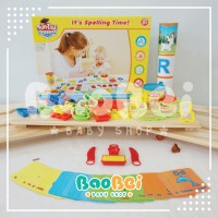 FUN DOH Spelling Time Flash card/FUNDOH Mainan Lilin cetakan Huruf&Angka/play doh angka/playdoh mura