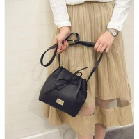 KGS Tas Casual Wanita Vivienne Simple Bucket Shoulder Bag 2 Pilihan Warna