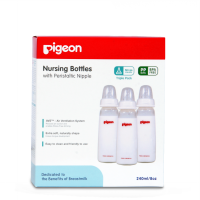 Pigeon Botol Triple Pack KP PP 240Ml With S-Type Silicone 'Nipple' - PR010306