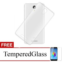 Case for Xiaomi Mi4 - Clear + Gratis Tempered Glass - Ultra Thin Soft Case