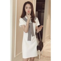 Promo [DRESS ZARA SYAL SL] dress wanita spandex broken white