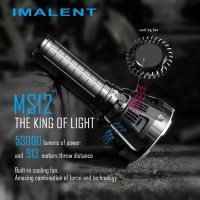 Imalent MS12 12x XHP70 53000Lumens 8Modes IPX8 KING OF LIGHT - Hitam