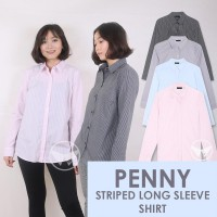 The-Fahrenheit Penny Striped Long Sleeve Women Shirt