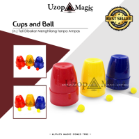 Cups And Ball (Alat sulap, mainan)