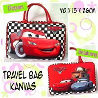 TRAVELBAGMURAH - Tas Travel Bag Kanvas Cars Catur