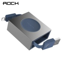 ROCK Retractable Lightning Charge Sync Round Cable