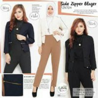 Side Zipper blazer