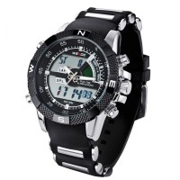 Weide Japan Quartz Men LED Sports Watch 30M Water Resistance- SILICONE