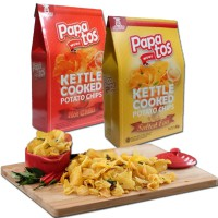 Papatos Salted Egg Potato Chips 80g/ Hot and Spicy Potato Chips 80g