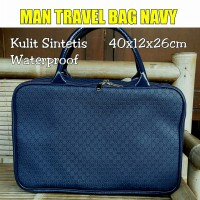 TRAVELBAGMURAH - Tas Man Travel Bag NAVY