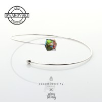COCOA JEWELRY Magic Square Bracelet Rainbow | Swarovski Crystal / Platinum-plated