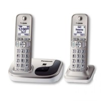Panasonic Cordless Phone KX-TGD212 N Wireless Telephone [2 Handsets][Silver][Speakerphone]