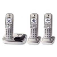 Panasonic Cordless Phone Wireless Telephone Telepon KX-TGD213 N [3 Headset - Speakerphone]