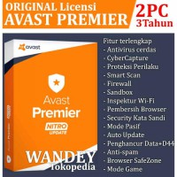 Hot Deal's PROMO 3TAHUN.!! Antivirus Avast Premier 2 USER / PC Licensi ORIGINAL