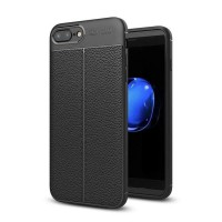 Iphone 6 Plus 6+ AutoFocus Auto Focus Carbon Silikon Leather Case Casing Back Leather Kulit Jeruk