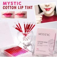 MYSTIC Cotton Swab Lip Tint/ Portable Cotton Bud Lip Tint for Easy MakeUp 3color
