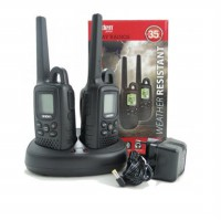 Uniden Walkie Talkie GMR3500 Walky Talky HT - Up to 35 Km[Sepasang] - Hitam