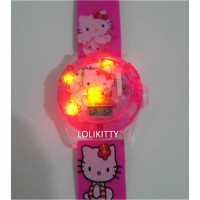 Jam Tangan Anak Hologram Proyektor, Laser, Music Hello Kitty AJP 11