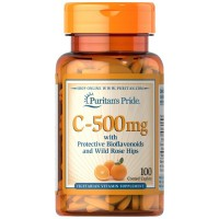 Puritan's Pride Vitamin C-500 mg with Bioflavonoids Rose Hips 100 Caps
