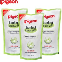 BUY 2 GET 1 FREE - Pigeon Baby Wash Chamomile 350Ml Reffil