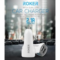 Roker R53 Car Charger Roker Charger Mobil 2.1A Dual USB