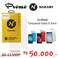 Super Discount! Nakami Tempered glass 0.33mm screen protector for Asus Zenfone 4, 5, 6