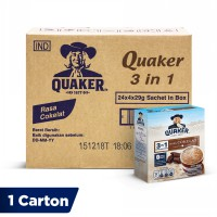 Quaker 3 in 1 Chocolate Box 4s 29g [1 Carton - 24 Pcs]