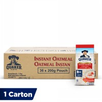 Quaker Instant Oatmeal Small Pack 200g [1 Carton - 36 Pcs]