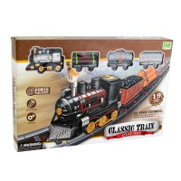 CLASSIC TRAIN PLAYSET 19 PCS 233A-5 usia 3+ Best Gift