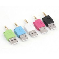 [globalbuy] 1pc 3.5mm Jack to USB Converter Charger Adapter for Apple iPod for Nano Newest/2843334