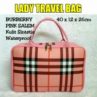 TRAVELBAGMURAH - Tas LADY Travel Bag Burberr* Pink Salem