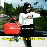 TRAVELBAGMURAH - Tas LADY Travel Bag Glossy Merah