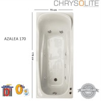 Bathtub Chrysolite - Tipe Azalea 170 Marble White